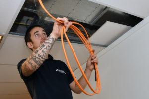 netwerk kabels montage